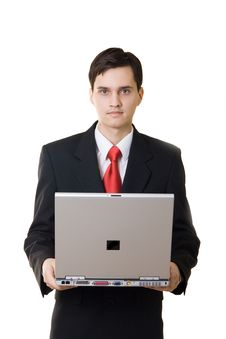 Free Businessman With Laptop Stock Photos - 1547783