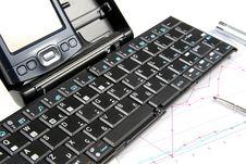 Free PDA And Keyboard Royalty Free Stock Photos - 1547898
