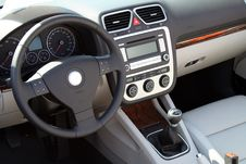 Free Rudder And Meter Panel Of A Cabriolet Stock Photo - 1547920