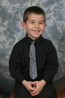 Free Boy Dressed In Tie Royalty Free Stock Photography - 1547977