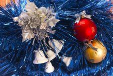 Free White Bells And Colour Balls Stock Photography - 1548062
