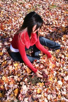 Free Sexy Woman In Fall Fashion Outdoors Stock Photo - 1548370
