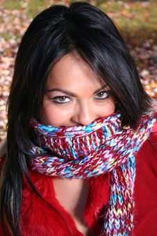 Free Sexy Woman In Fall Fashion Outdoors Royalty Free Stock Images - 1548489
