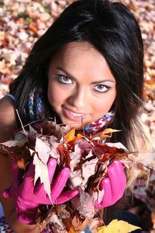 Free Sexy Woman In Fall Fashion Outdoors Royalty Free Stock Photo - 1548525