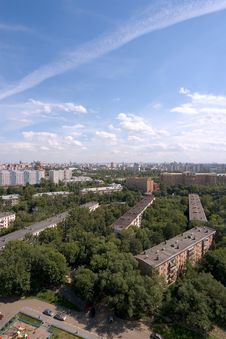 Free Birdseye Modern City View. Summer Royalty Free Stock Image - 1549136