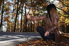 Free Sexy Woman In Fall Fashion Outdoors Royalty Free Stock Photos - 1549598