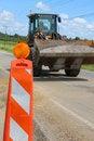 Free Tractor In Road Work Zones Stock Photos - 15400223