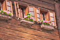 Free Wooden House With Flowers In Hallstatt Royalty Free Stock Photos - 15400338
