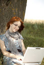 Free Young Smiling Girl In Glasses And Notebook Stock Photography - 15402482