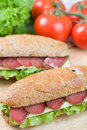 Free Sandwich With Dry Meat Royalty Free Stock Image - 15405966