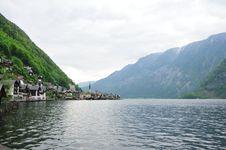 Water View Of Hallstatt, Austria Stock Photos
