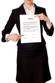 Free Features Of The Contract Stock Photo - 15400760