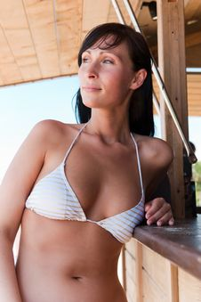Free Beach Bar Girl Royalty Free Stock Photography - 15402647