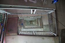 Free Spiralling Graffiti Staircase Berlin Stock Photo - 15402770