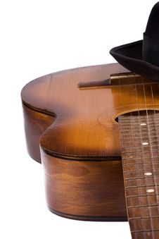 Free Classical Guitar And Hat Stock Images - 15403104