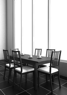 3d Dining Table Stock Image