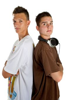Free Young Fresh Teenage Djs Royalty Free Stock Image - 15403946