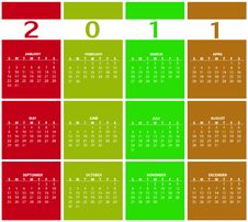 Free Calendar For 2011 Stock Images - 15404184