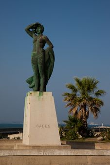 Free Gades Statue In Cadiz Stock Photography - 15404242