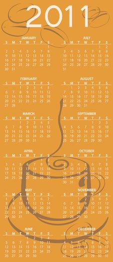 Free Calendar For 2011 Royalty Free Stock Photos - 15404288