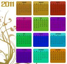 Free Calendar For 2011 Stock Photos - 15404563