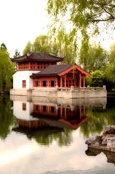 Free Pagoda On The Water. Stock Image - 15404611