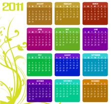 Free Calendar For 2011 Stock Photos - 15404623