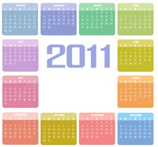 Free Calendar For 2011 Royalty Free Stock Image - 15404646