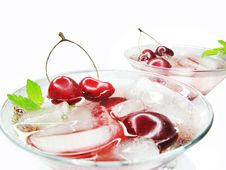 Free Alcohol Liqueur Cocktail With Cherry Stock Image - 15404811