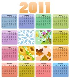 Free Calendar For 2011 Stock Photos - 15404873