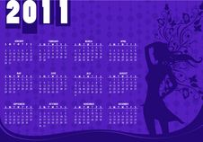 Free Calendar For 2011 Stock Photos - 15404903