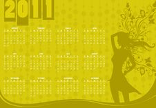 Free Calendar For 2011 Stock Image - 15404931