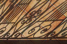 Shadows On Tiled Patio Stock Photos
