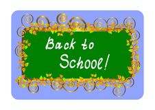 Back To School - Card. Vector Illustration. Royalty Free Stock Photo