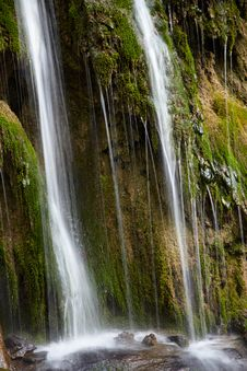 Waterfall On A Spring Royalty Free Stock Image