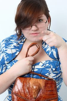 Free Lady With The Alligator Purse Stock Photography - 15408612