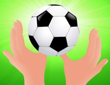 Free Football Bright Background Royalty Free Stock Images - 15409319