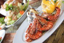 Free Shrimps Platter Stock Photography - 15409482