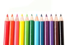 Free Pencils In A Row Stock Images - 15409534