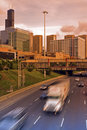 Free Evening Traffic In Chicago Stock Images - 15417214