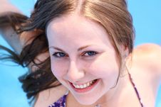 Free Woman In Swimming Pool Royalty Free Stock Images - 15410109