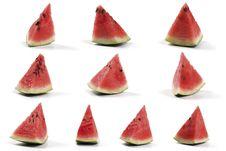 Free Slices Of Watermelon Stock Photo - 15410130