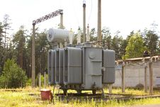Free The High-voltage Transformer Royalty Free Stock Image - 15410276