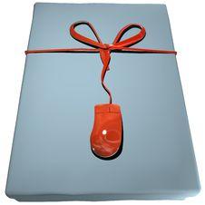 Free Gift Box Cyan Stock Photography - 15410962