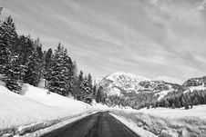 Free Snow On The Dolomites Mountains, Italy Stock Image - 15411061