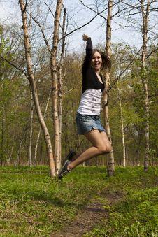 Free Jumping Girl Royalty Free Stock Photo - 15411065
