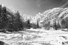 Free Snow On The Dolomites Mountains, Italy Royalty Free Stock Photos - 15411068