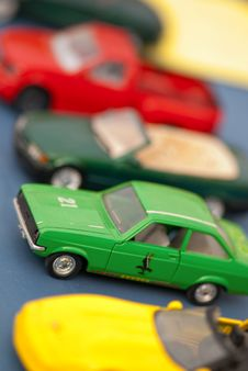 Small Colored Cars Stock Photography
