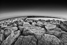 Free Rocks Over The Sea, Pisa Stock Image - 15411391