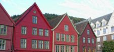 Architecture Of Bergen, Norway Royalty Free Stock Photos